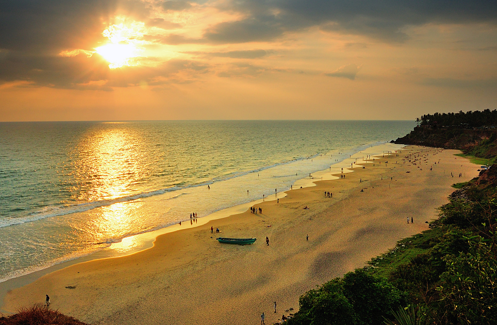 Varkala sunset wage freedom