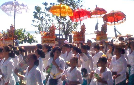 Balinese Women Balinese Umbrellas moving to bali