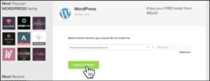 wordpress blog bluehost domain