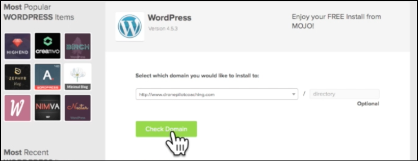 wordpress blog bluehost domain