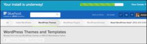 wordpress blog on bluehost installing