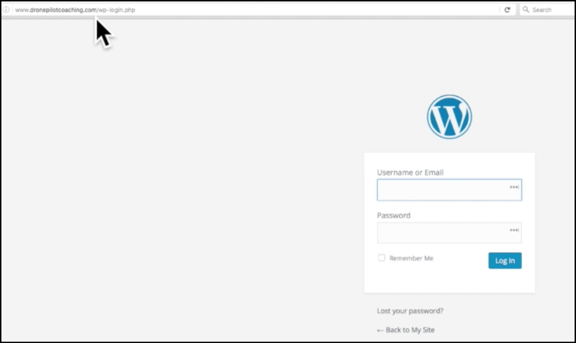 wordpress blog admin