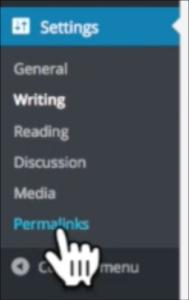 blog permalinks location on dashboard