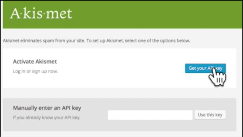 starting with wordpress akismet api key