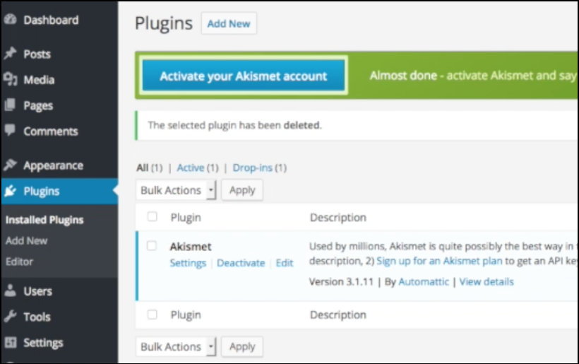 wordpress blog bluehost one plugin