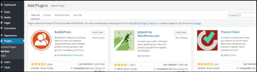 add pugins wordpress backend