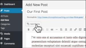 add media using wordpress