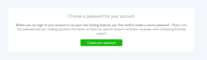 Start a blog Bluehost Password