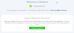 7 Start a blog Bluehost Welcome