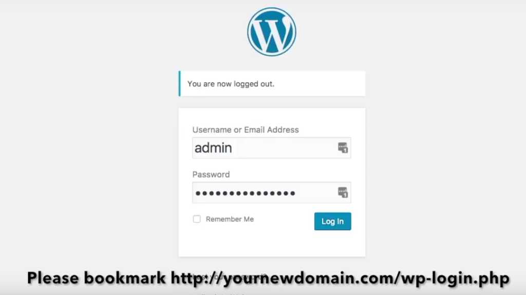 Start a blog Bluehost bookmark wordpress login screen